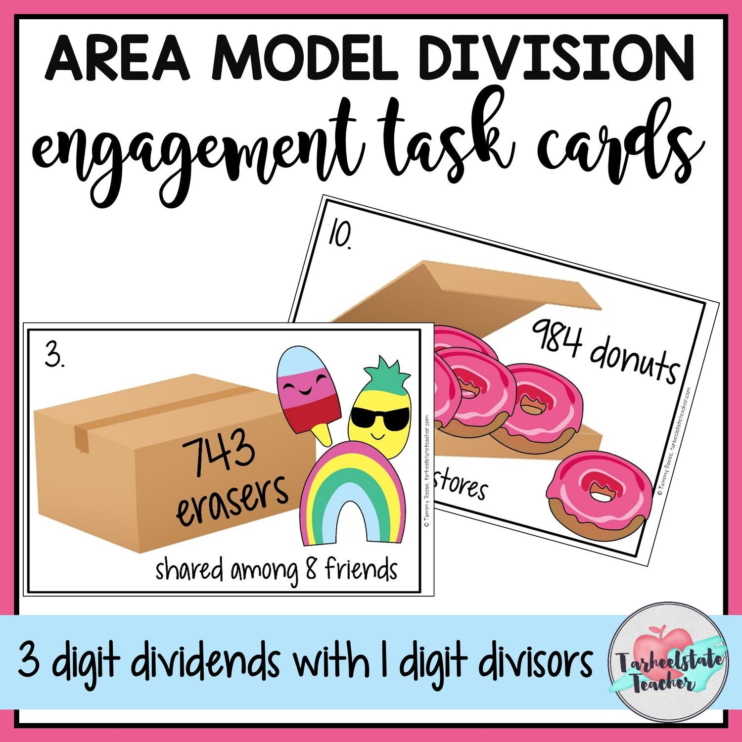 Free Area Model Division Teaching Resource With Images