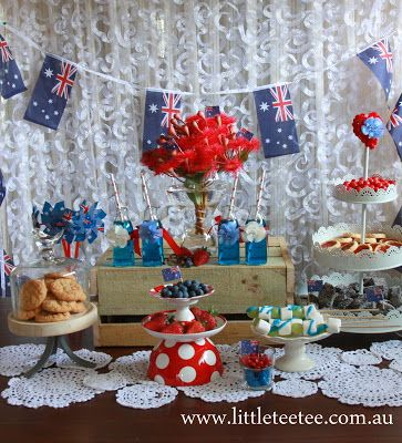 Australia Day Morning Tea All Blue White And Red For The Colours On National