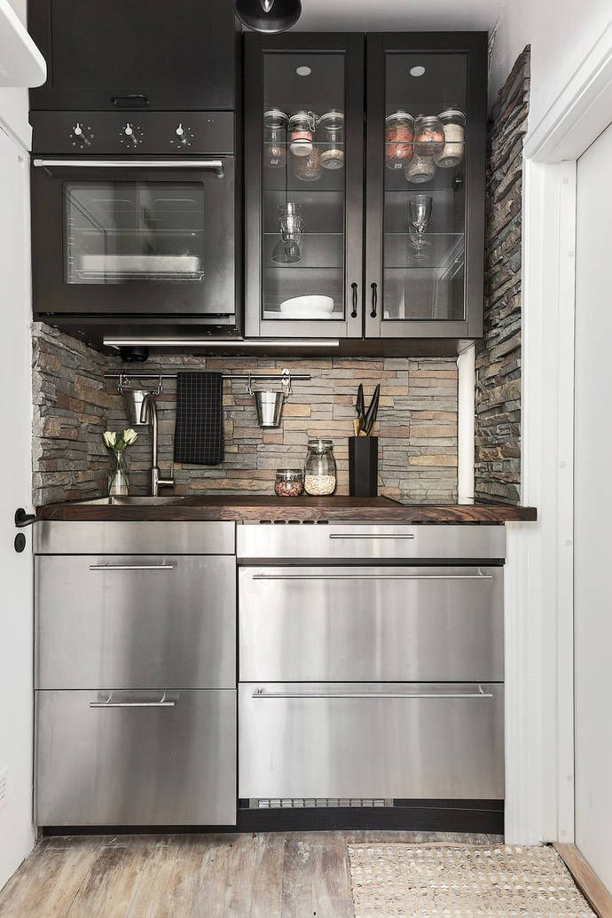 Small Kitchen Ideas Apartment Microwave