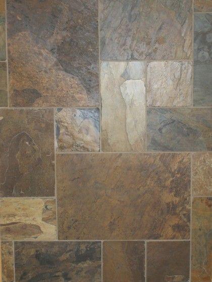 California gold slate floor tile versailles pattern for Slate floor patterns