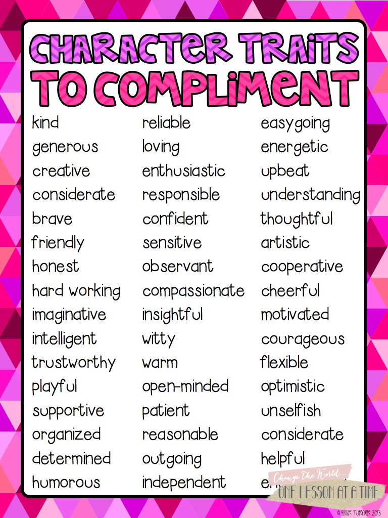 words used for compliments