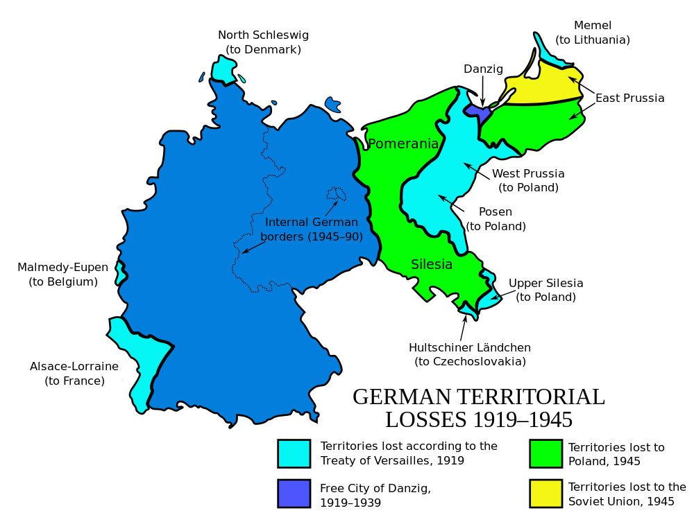 Germany suffered territorial losses in 1919 Contextual Europe