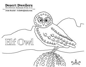Desert Dwellers Owl Coloring Pages Coloring Pages Elf Owl