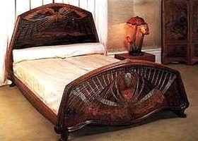 lit d 39 emile gall arts and crafts movement pinterest. Black Bedroom Furniture Sets. Home Design Ideas