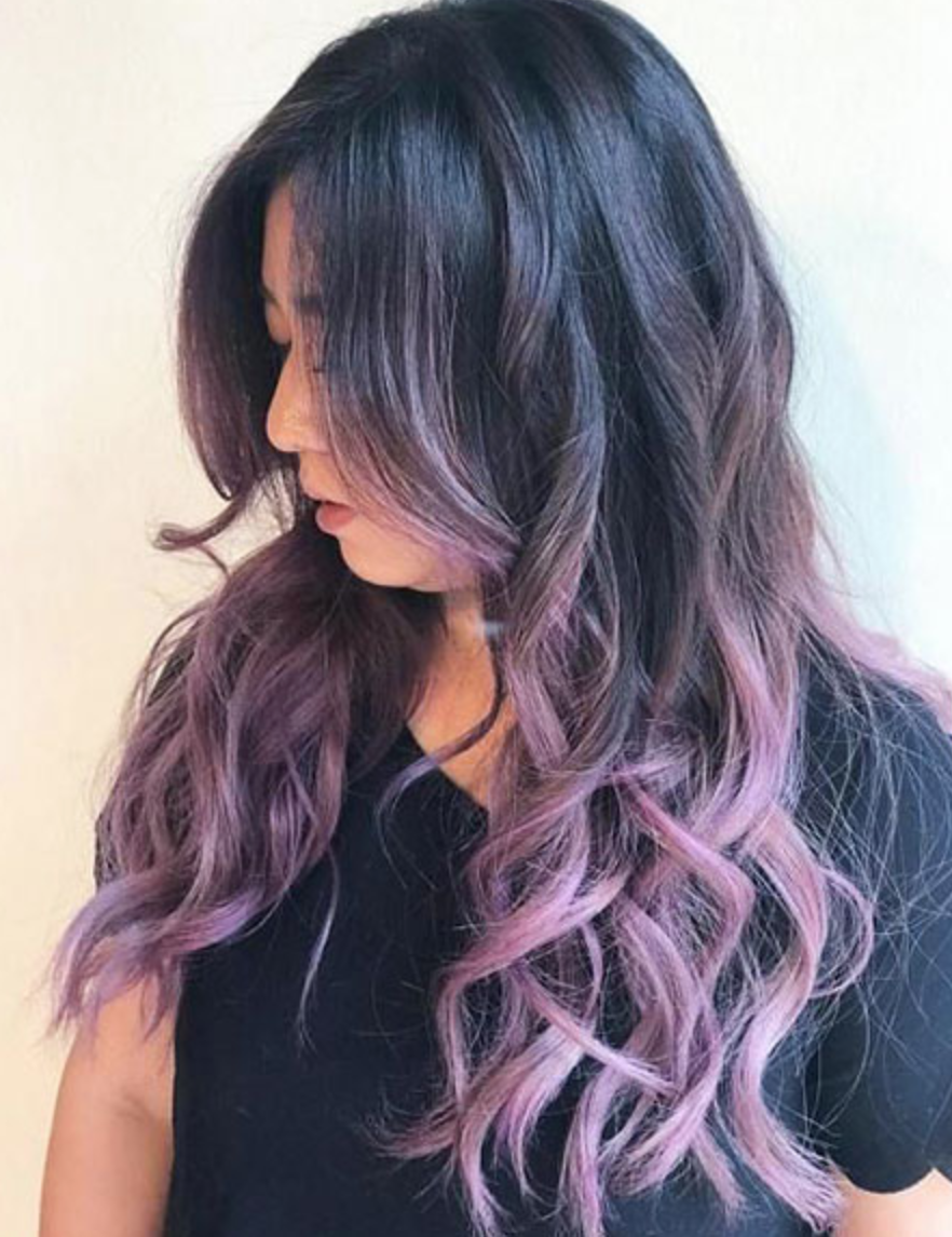 Top Best Hairstyle Trends Ideas 2019 Purple Balayage Ombre Hair Color Hair Styles