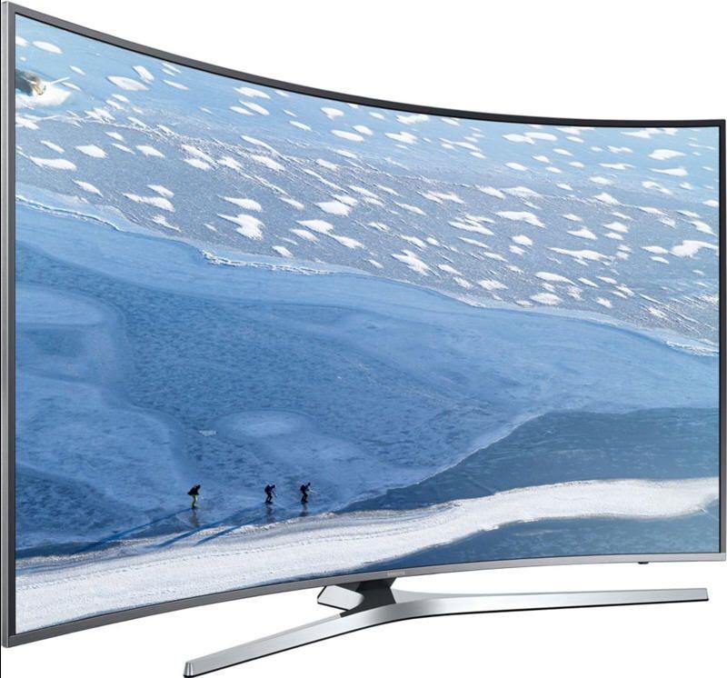 tv 4k uhd samsung ue65ku6680 4k hdr 1600 pqi incurve. Black Bedroom Furniture Sets. Home Design Ideas