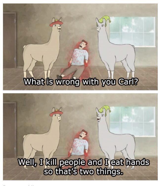 Secretagentbob Llamas With Hats 2 I Kill People And I Eat Hands