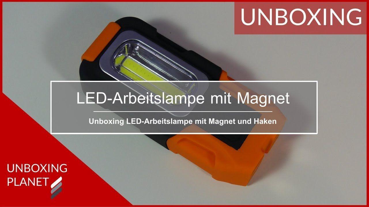 Video Uber Led Arbeitslampe Mit Magnet Und Haken Zur Befestigung Ledarbeitslampe Magnet Haken Befestigung Arbeitslampen Magnete Led