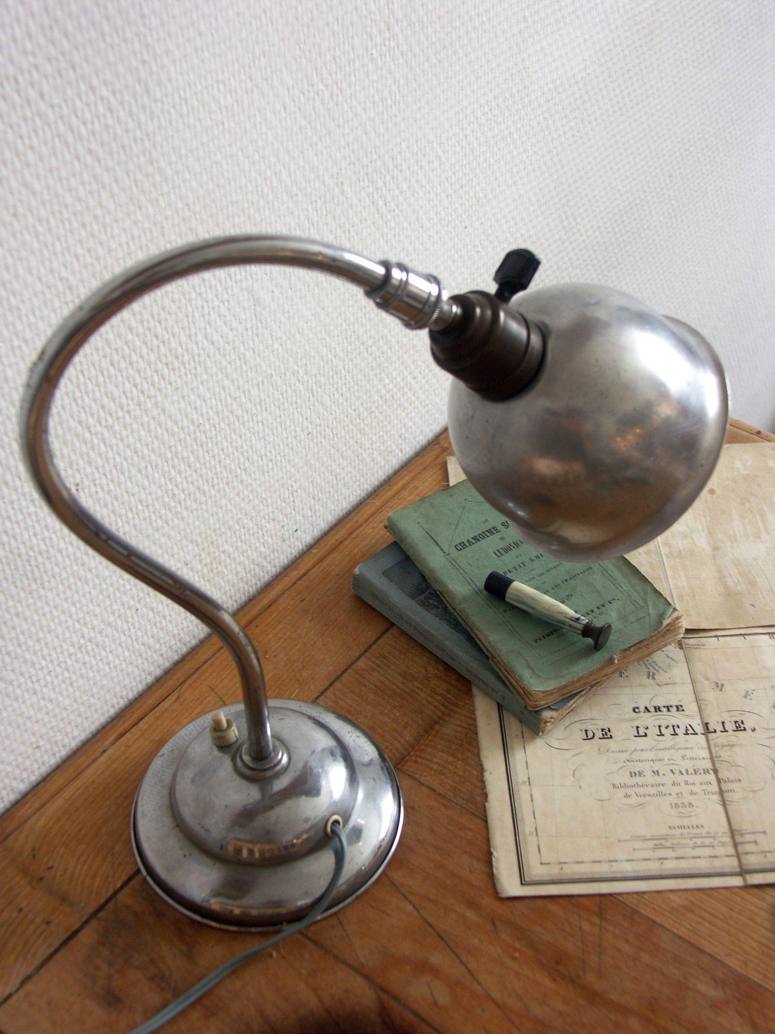 Lampe de bureau indus   Éclairage industriel vintage, Lampe