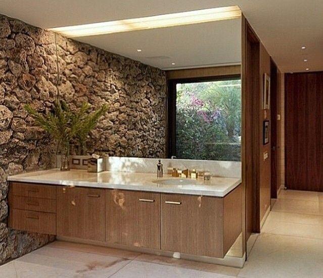 Amado banheiro com pedra na parede | kyoto Japão | Pinterest | Banheiros  PE64