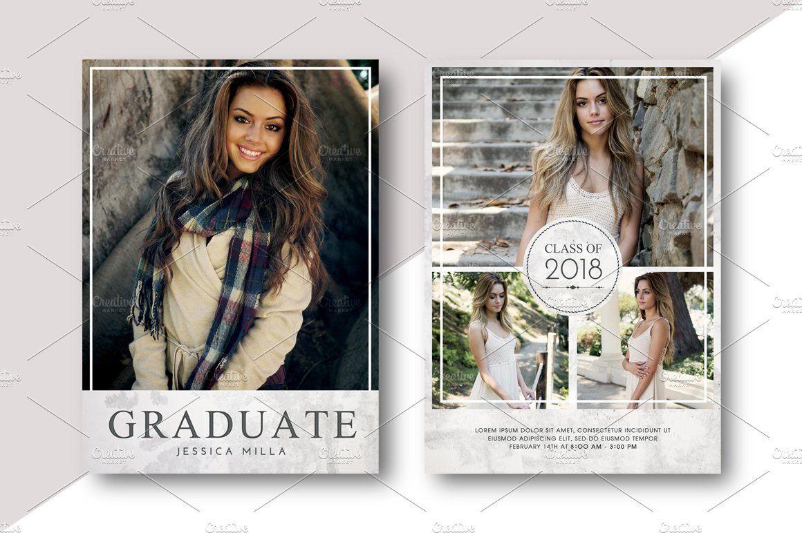 Graduation Card Bundle Template Graduation Card Templates Graduation Announcement Cards Graduation Announcements