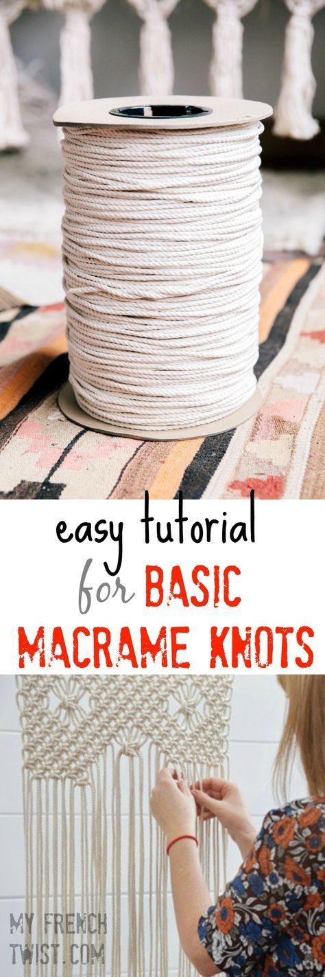 easy tutorial for basic macrame knots dekoration makramee knoten h keln und makramee anleitung. Black Bedroom Furniture Sets. Home Design Ideas