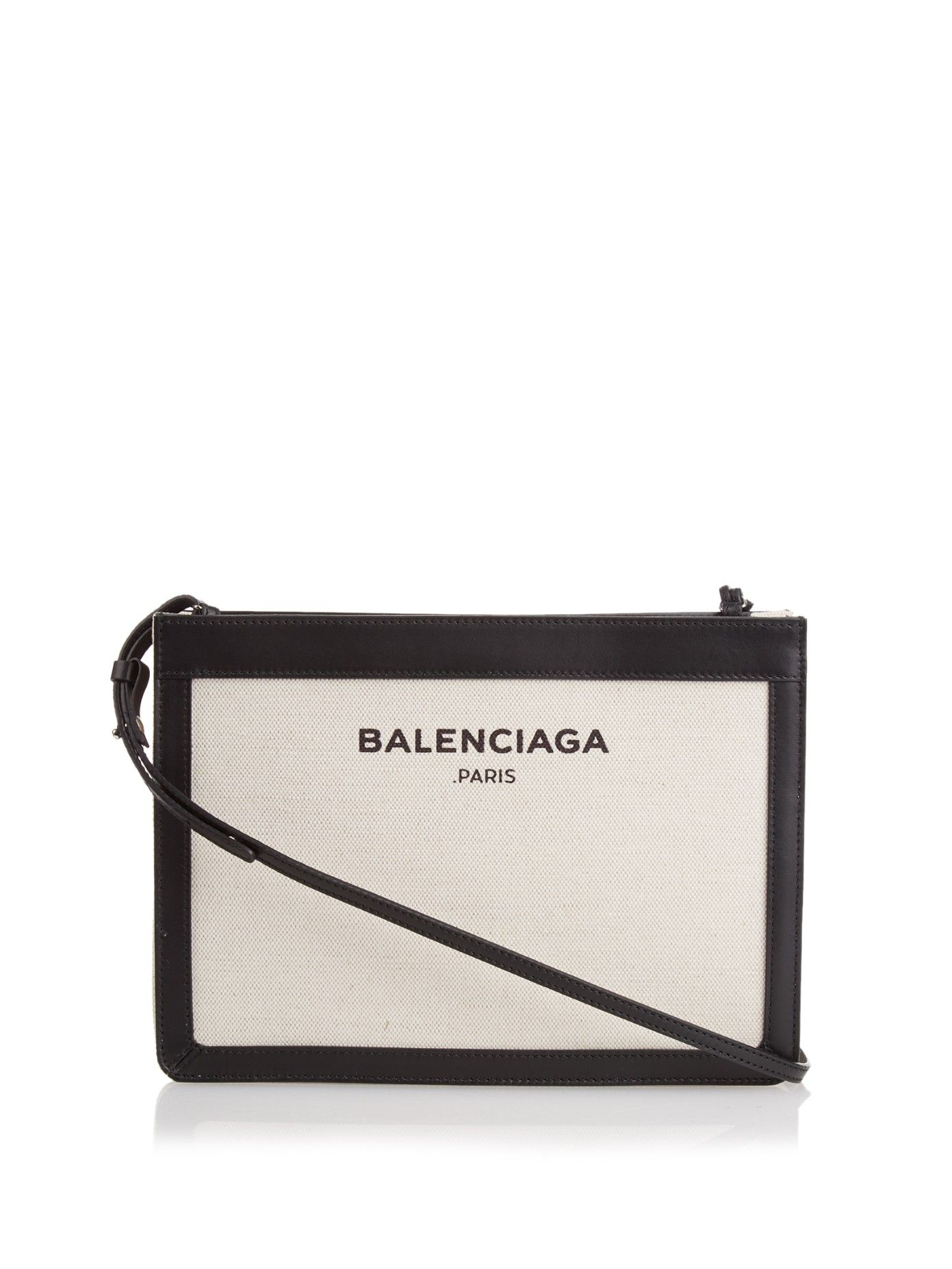 910474b58 Navy Pochette cotton-canvas cross-body bag by Balenciaga | Shop now at  #MATCHESFASHION.COM