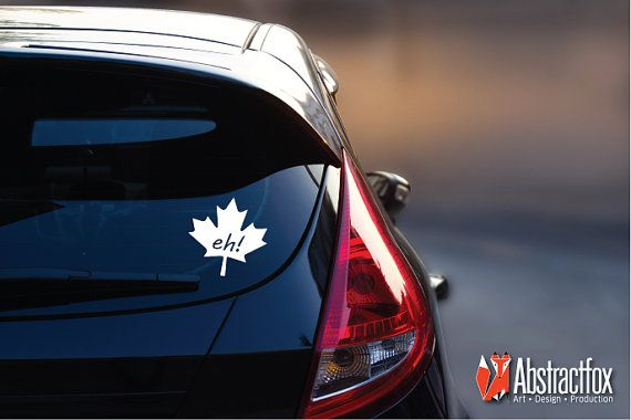 Canadian eh car decal maple leaf car sticker car by abstractfox