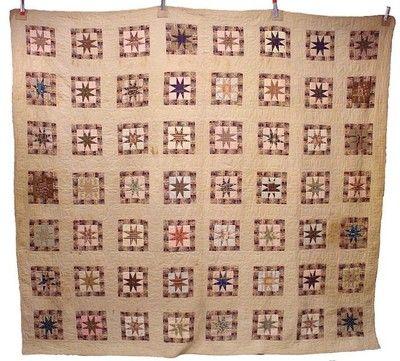 CA 1850s Vintage Star Quilt | eBay, Iganfield