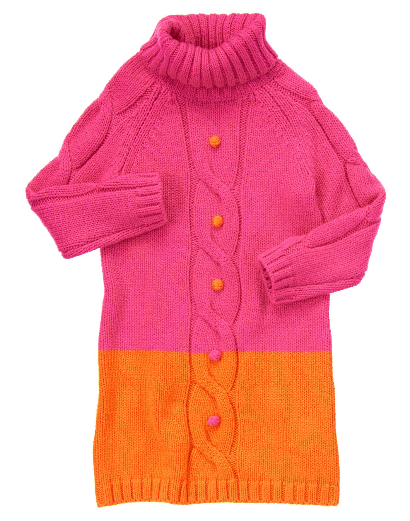 Gymboree- Happy shades of pink and orange with fun sweater bobbles ...