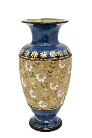 Antique Tall English Porcelain Royal Doulton Tapestry Series Glazed Pottery Vase Ebay