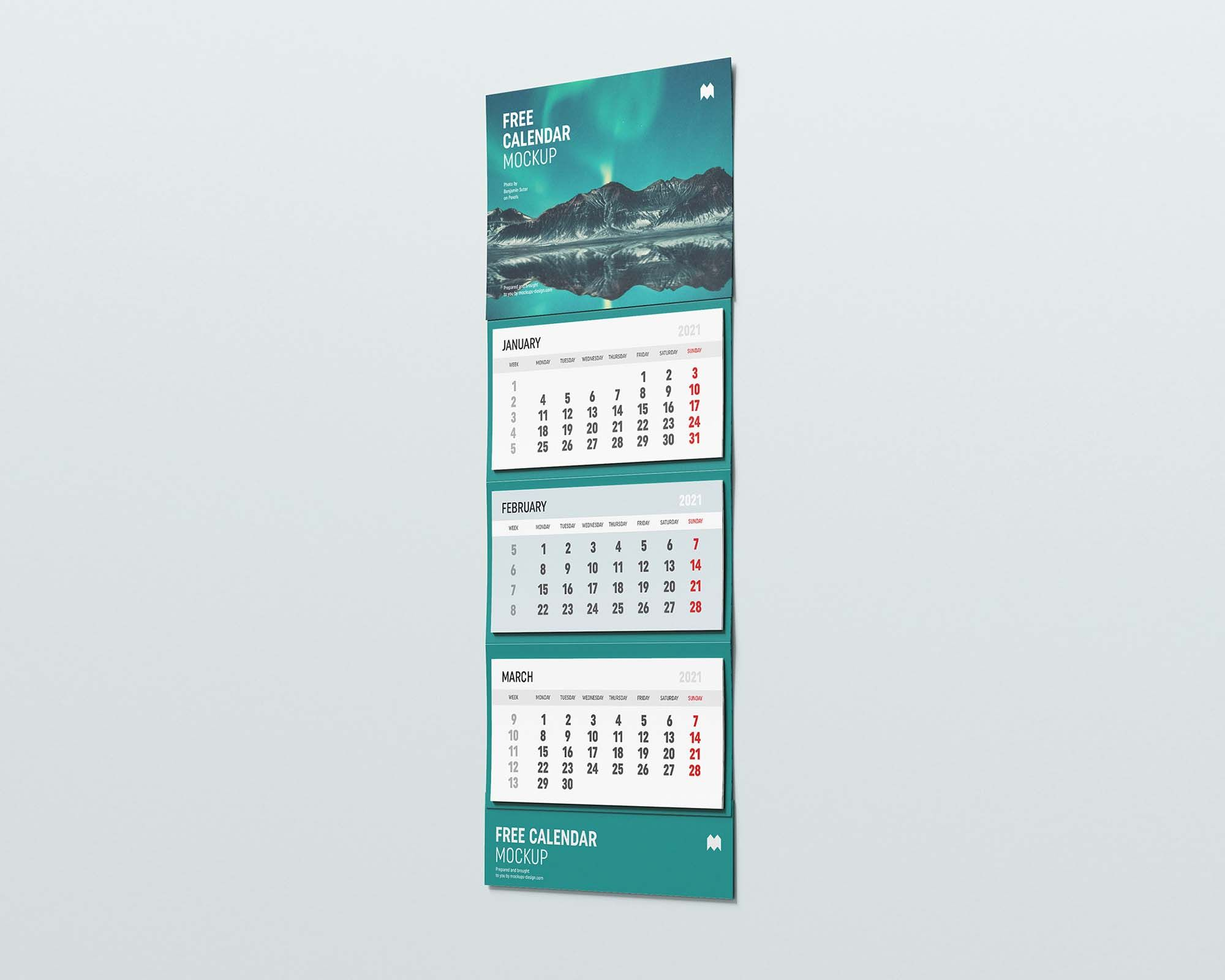 Calendar free mockup
