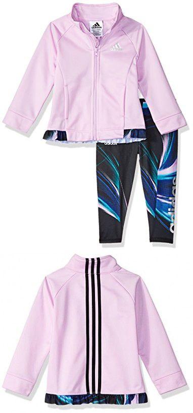 Adidas Baby Girls Zip Jacket And Pant Set Jackets