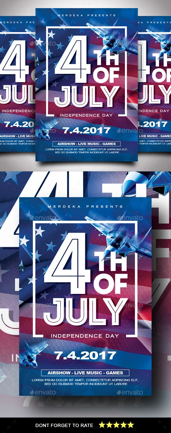 Independence Day Flyer  Event Flyers Flyer Design Templates And