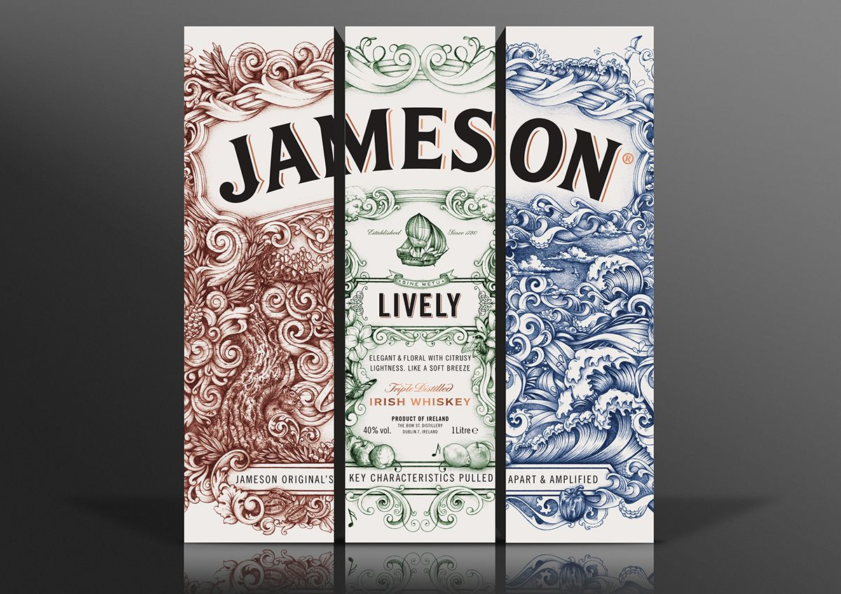 Jameson Whiskey - Deconstructed Series 'LIVELY' on Behance