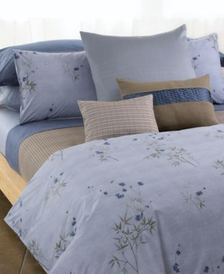 Calvin Klein Bamboo Flowers King Sham Purple With Images