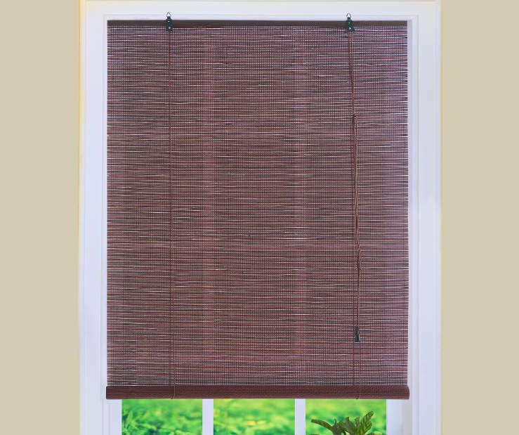 Living Colors Dark Bamboo Roll Up Blinds At Big Lots 24 X 72 8