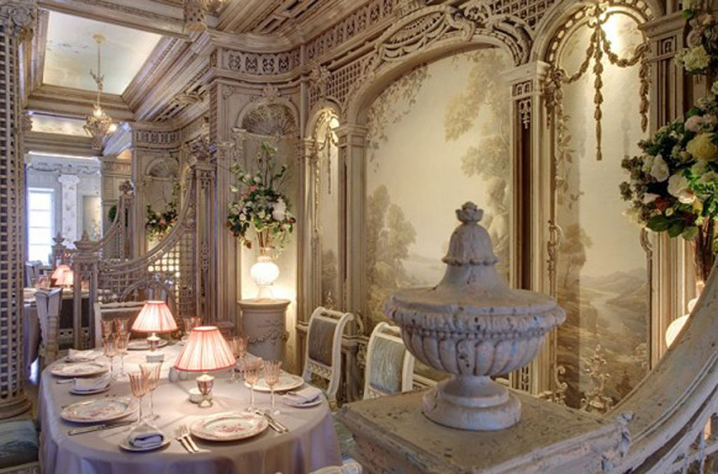 Baroque rococo style salles manger pinterest mise for Salle a manger wales