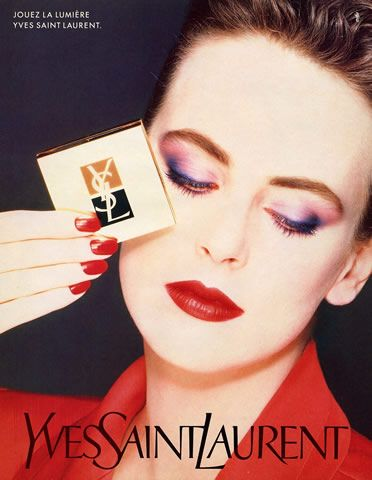 Yves Saint Laurent 1987 Vintage Makeup Ads Beauty Ad