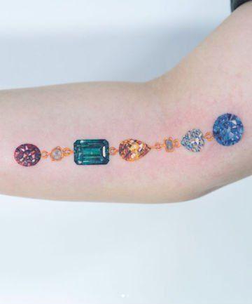 21 Gemstone Tattoos So Pretty You Won't Need Jewelry Anymore