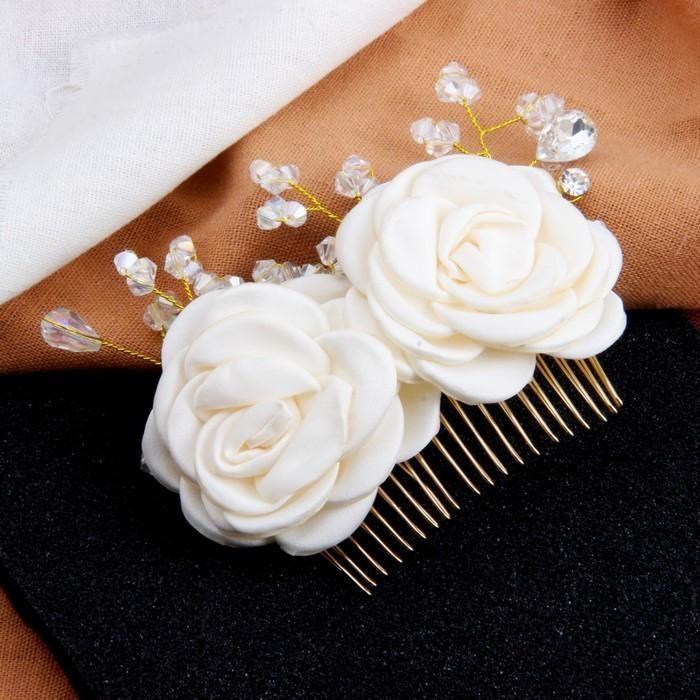 beautiful! bridal hair comb, flower wedding hair comb, bridal hair ...