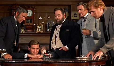 6eea203941 Sixties | Whit Bissell, Rod Taylor, Sebastian Cabot, Tom Helmore and Alan  Young in The Time Machine, 1960