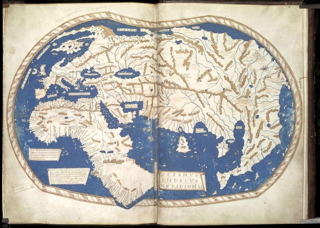 document 4 carte de 1489. (1093×777) | Les Grandes Découvertes