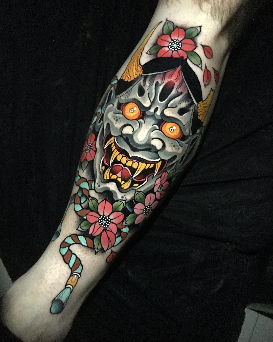 Neo Traditional Tattoo By Johnny Domus Mesquita New School Neo