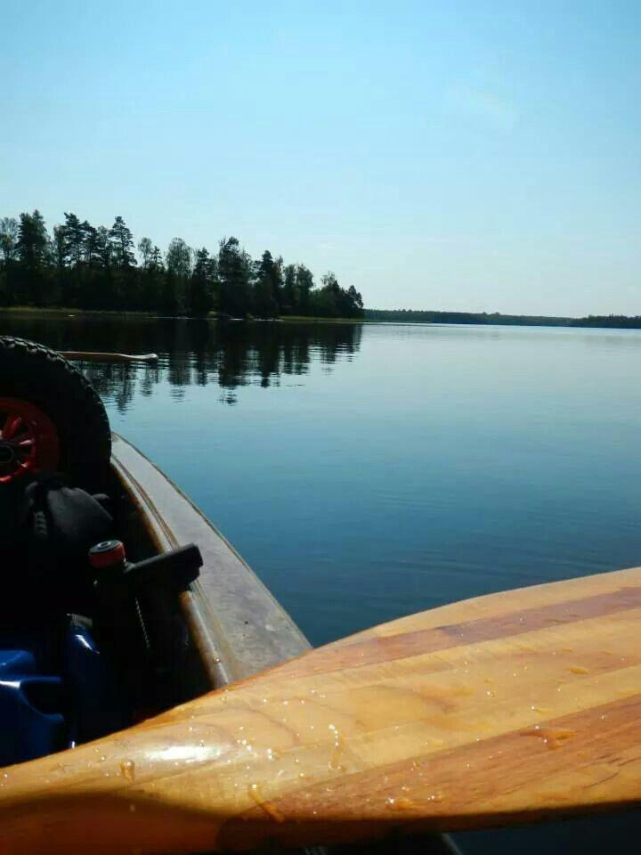 Lake Åsnen in Zweden.