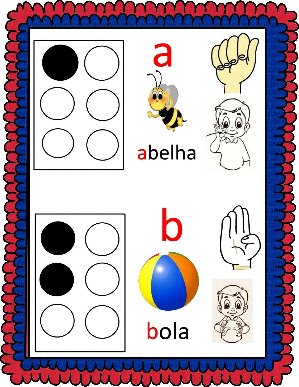 Atividades Escolares Alfabeto Em Libras E Braile Libra