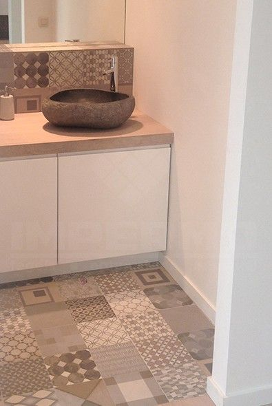 keramische patroontegel, 60x60 tegel, badkamer, lavabo, parket ...