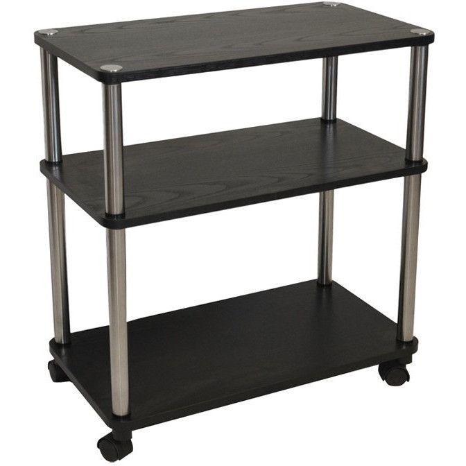 3 Shelf Mobile Home Office Caddy Printer Stand Cart In Black | Office |  Pinterest | Printer Stand, Mobile Homes And Printers