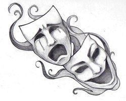 Masken Tatuaje De Teatro Mascaras Dibujo Arte Del Bosquejo