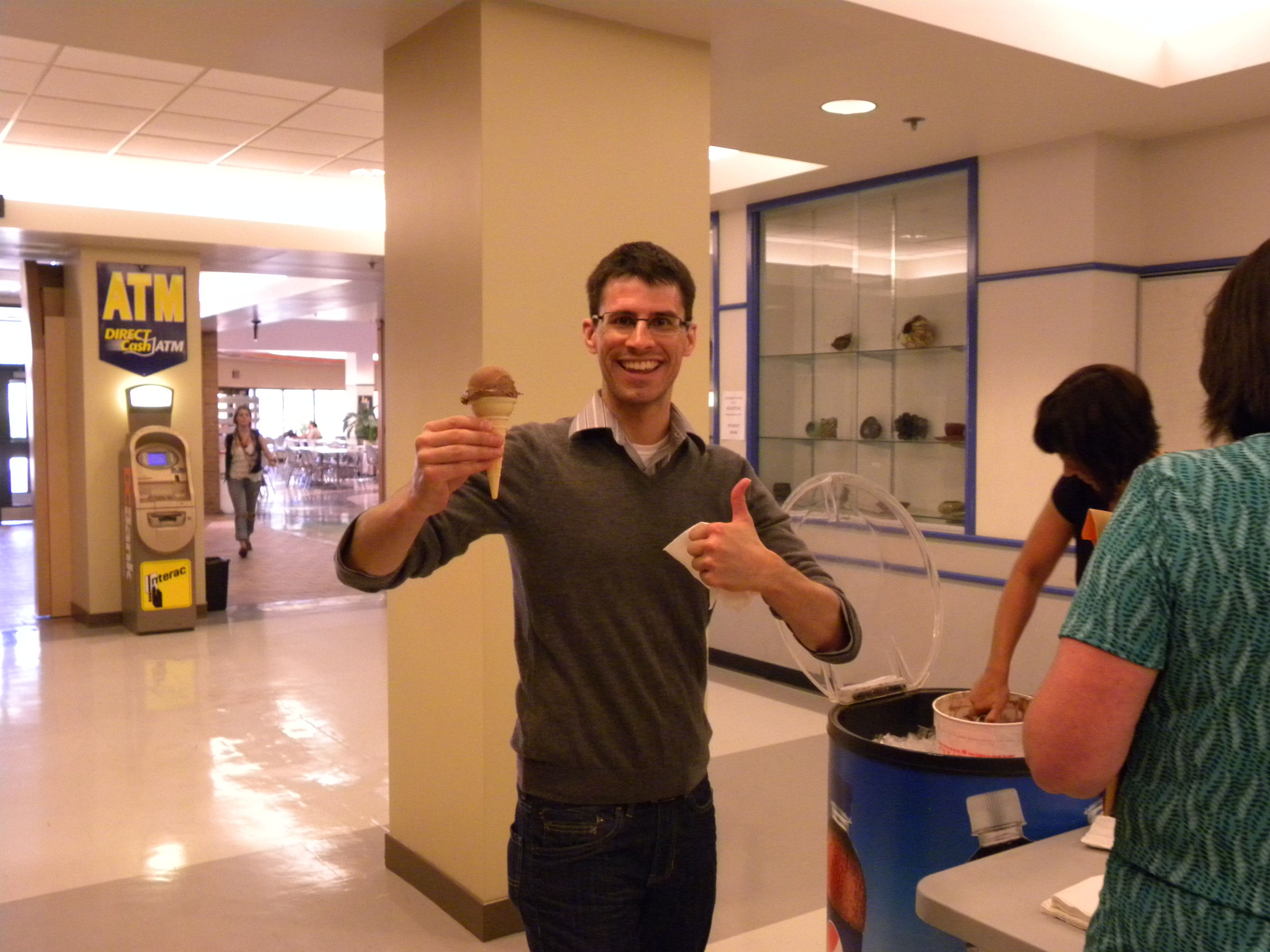 Free ice cream from Campus Life makes for a happy day!