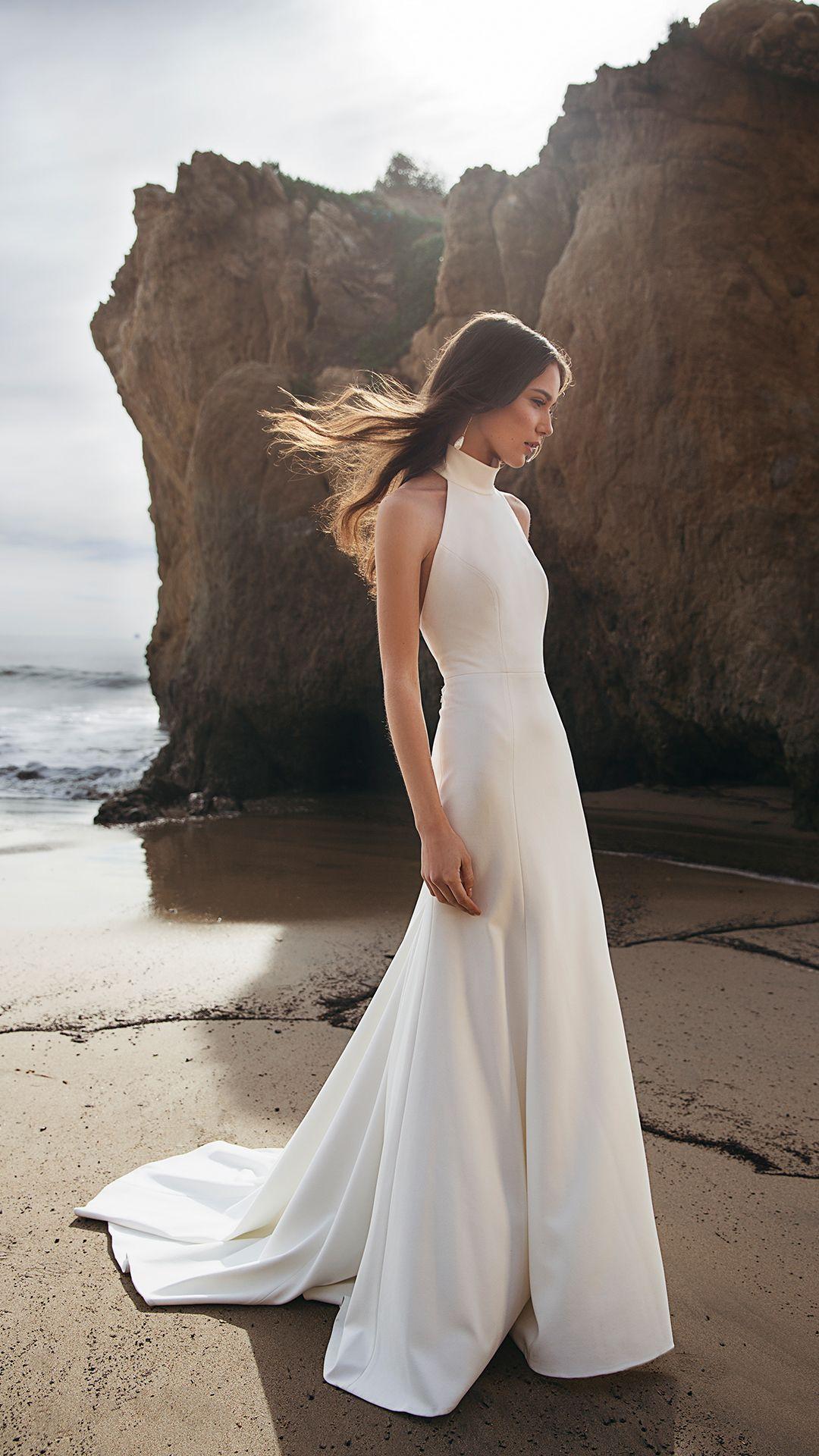 The Dawson Gown Sleek Wedding Dress Wedding Dress Necklines Modern Wedding Dress
