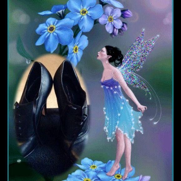 Steven black leather tie up shoe Conservative black shoe Steve Madden Shoes