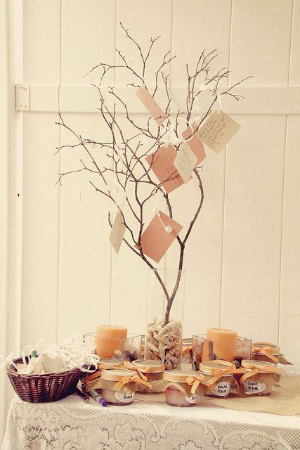 Cute Wedding Shower Decorations : Bridal shower advice decorations sugar scrubs