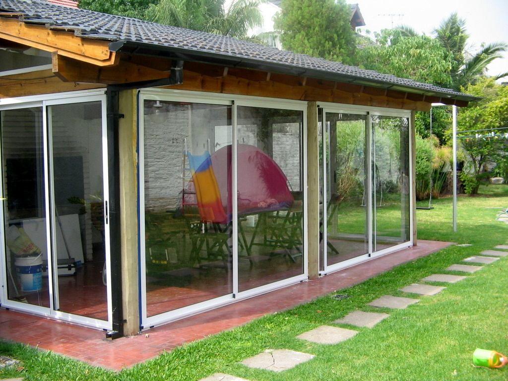 Cerramientos en aluminio quinchos balcones galerias for Modelos de patios