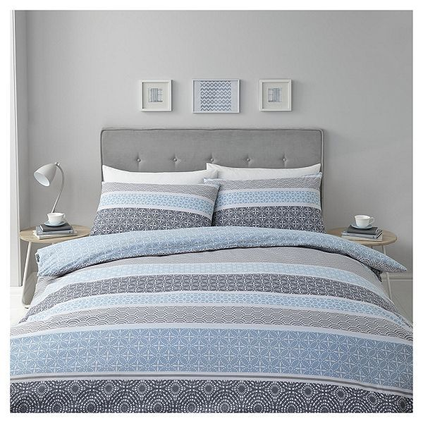 Tesco Direct Blue Multi Geometric Duvet Set King Geometric Duvet Duvet Sets Bedroom Duvet