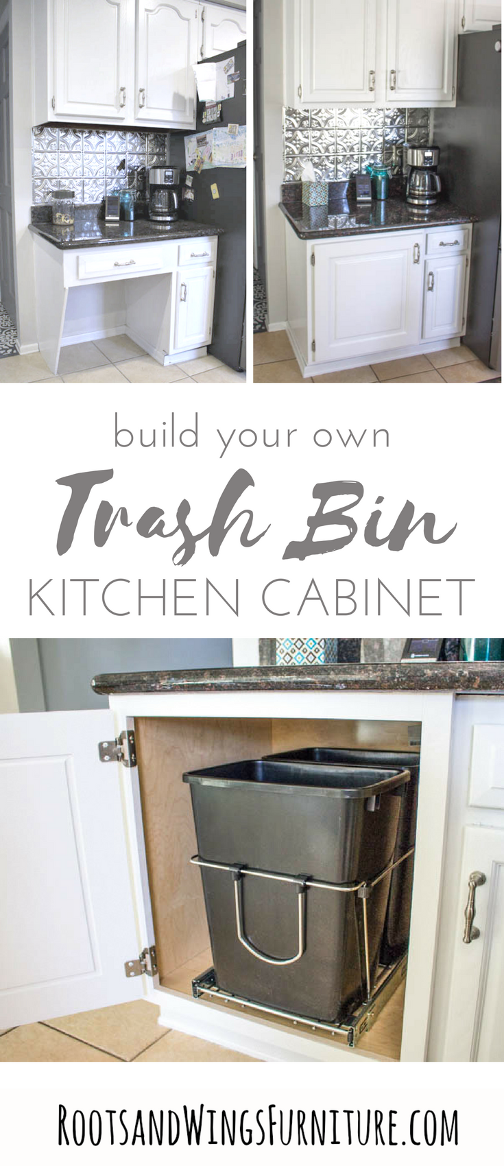 When Function Meets Design Adding A Pull Out Trash Can Roots Wings Furniture Llc Diy Kitchen Kitchen Desks Diy Kitchen Renovation