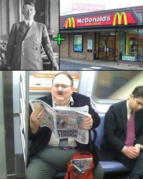 Hitler Rides The Subway