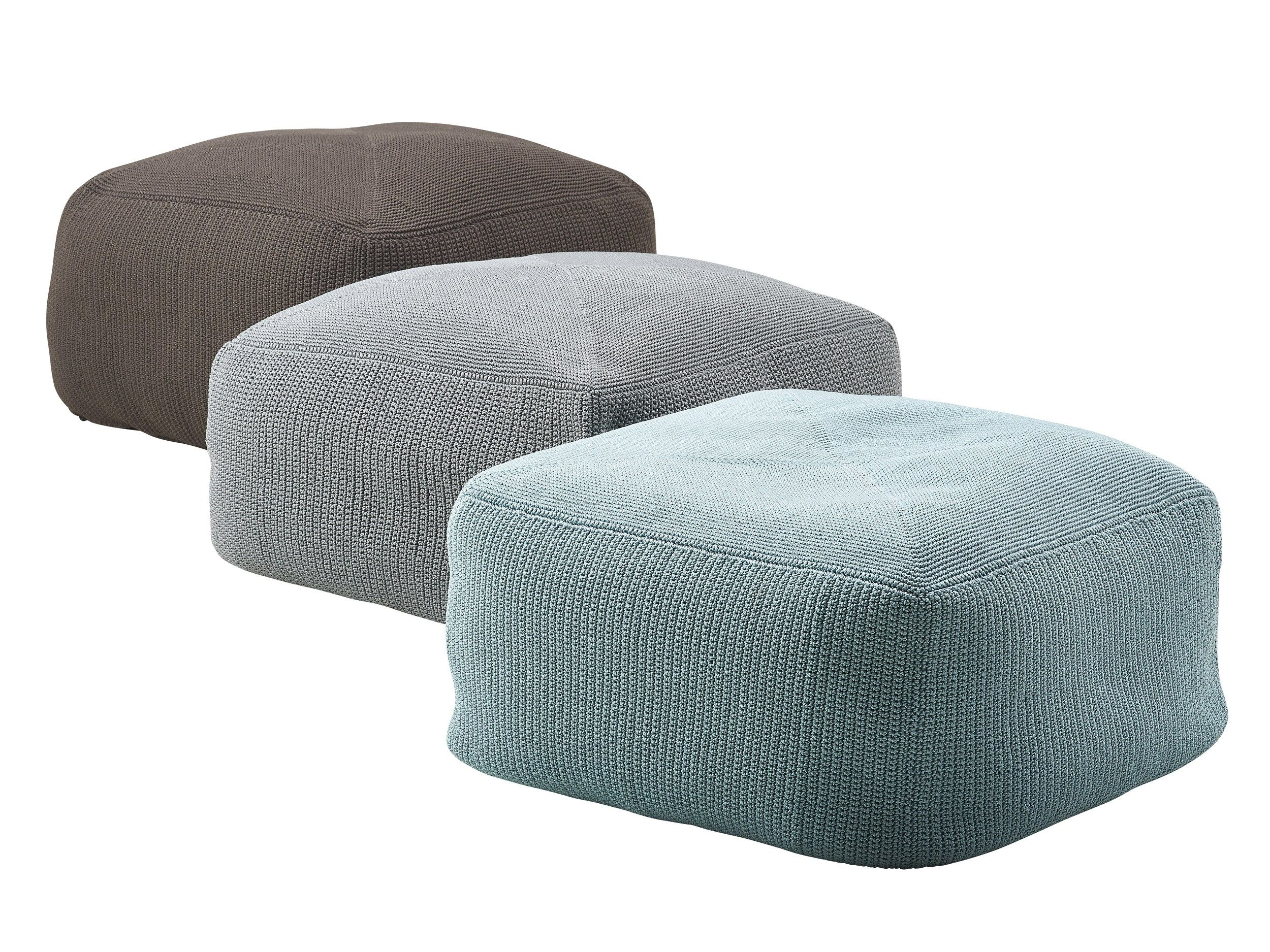 Divine Garden Footstool By Cane Line Ottoman In Living Room