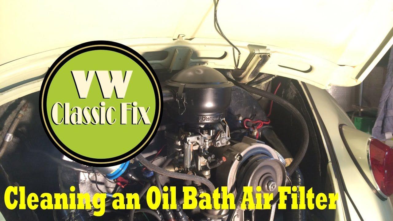 VW Beetle Air Filter How to clean an oil bath air