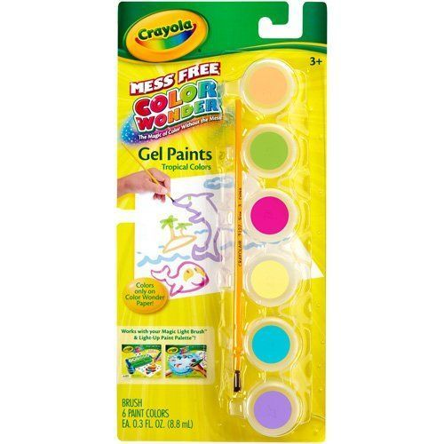 Crayola Color Wonder Gel Tropical Paint Palette Refill Mess
